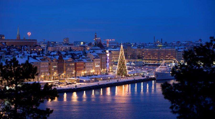 1lit Tree By Dock Henrik Trygg Skeppsbron At Christmas 1248 Web Ready