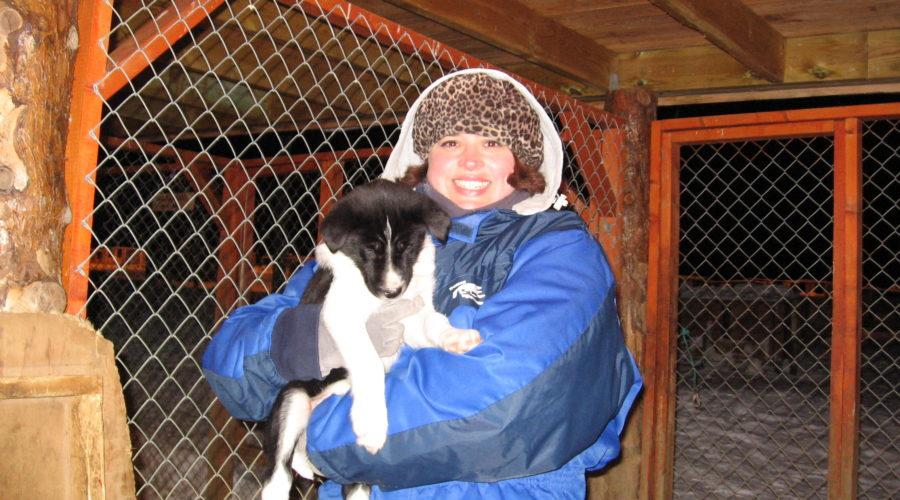 Betina With Husky 6