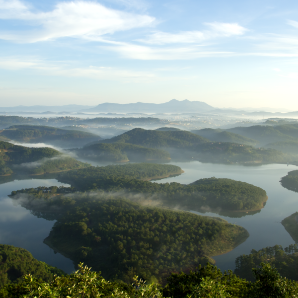 Dalat View Over Mountain Ranges