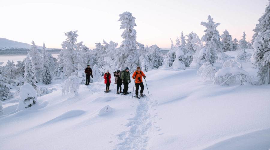 Finland Lapland Winter Snowshoe Group Fun Matt Cherubino Visit Finland Copy (2)