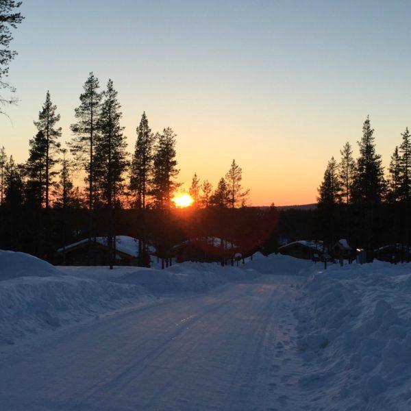 Finnish Sunset, Kakslauttanen   Photo: Andrea Berkeland/Borton Overseas