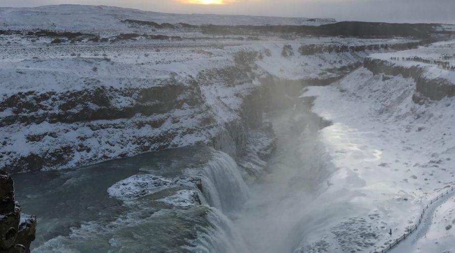 Gullfoss Waterfall Winter Alyssa Thompson, Bo Web Ready