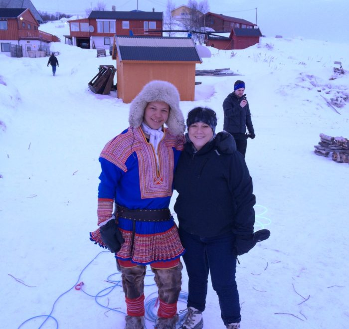 With Sami, northern Norway