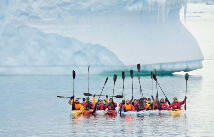 Kayaking Iceberg Antarctica © Polar Latitudes