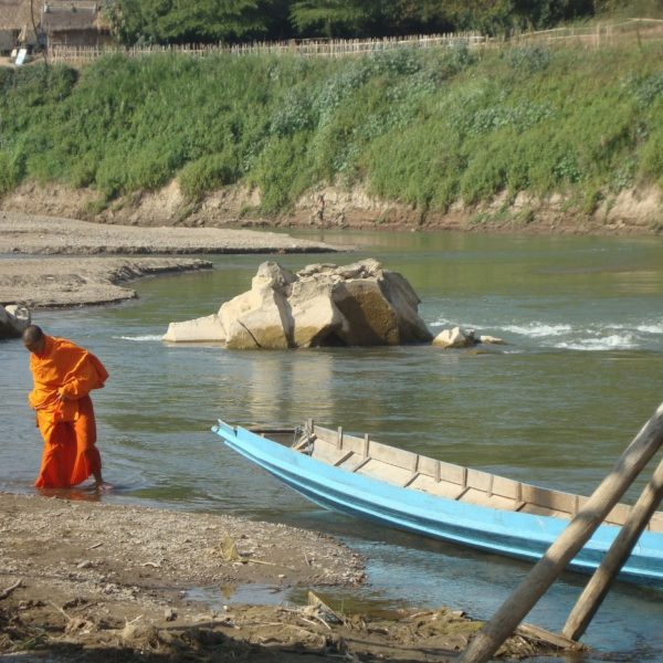 Buddhist Monk At River