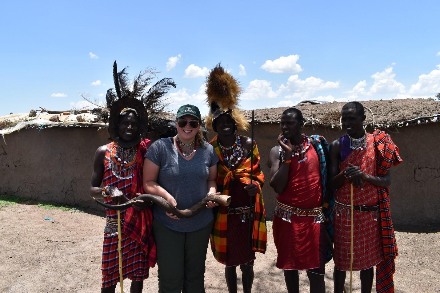 Laura With Maasai