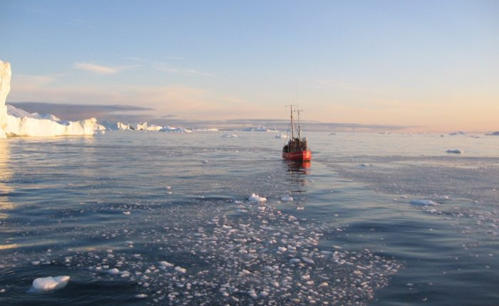Main Fishing Boat In Disko Bay & Ice Betina Kohler Web Ready