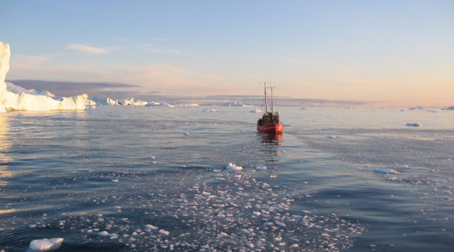 Main Fishing Boat In Disko Bay & Ice Betina Kohler Web Ready