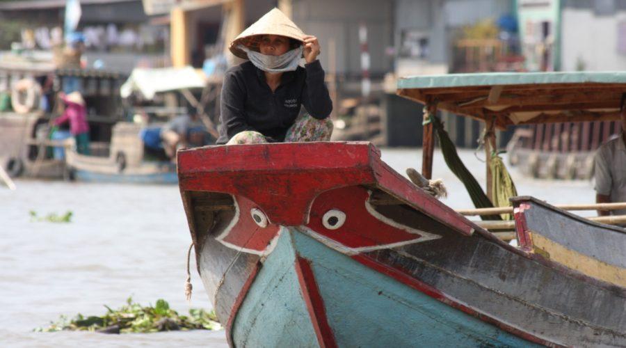 Mekong Delta Vietnamese Woman On Boat