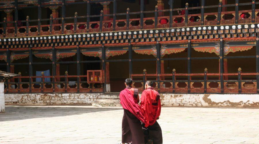 Monks At Rinpung Dzong In Paro, Bhutan Web Ready