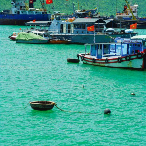 Fishing Boats On The Sea, Vietnam