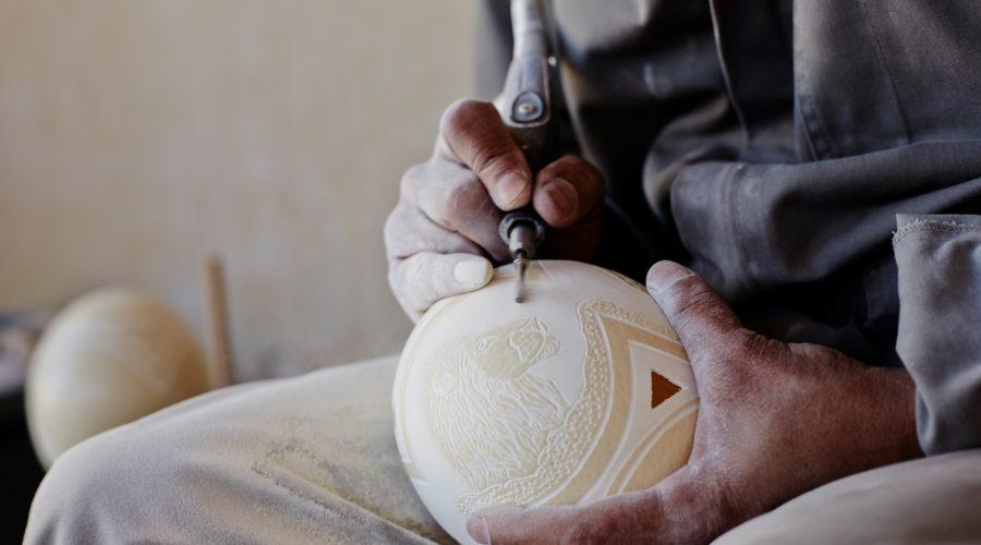 Oudtshoorn Ostrich Egg Carving