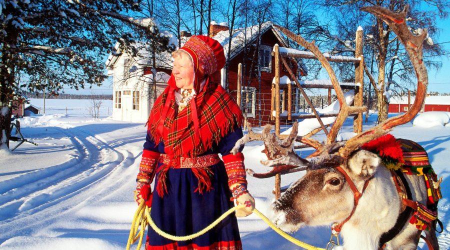 Sami Woman & Reindeer Arto Liiti Visit Finlandleuku Al 0082 Copy (2)