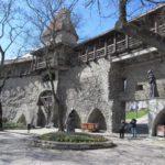 Tallinn Wall With Monk Statues