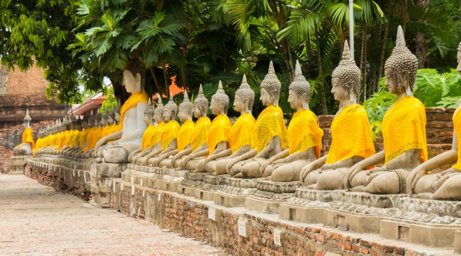 Wat Yai Chaimongkol, Ayutthaya, Thailand Web Ready