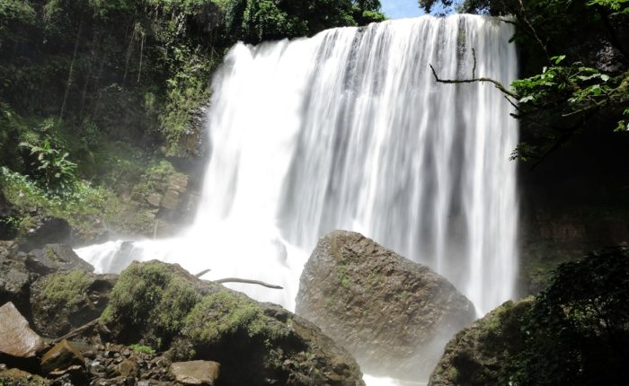 Waterfall On The Bolaven Plateau In Laos.