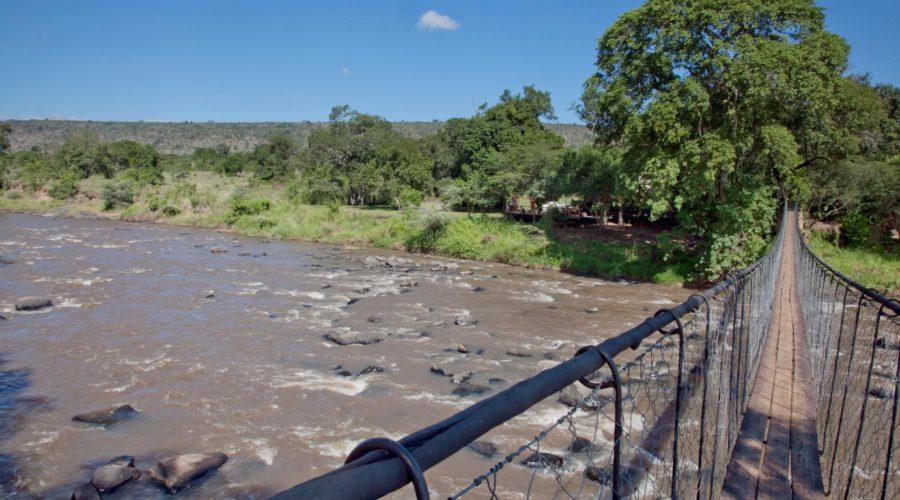Photo: Andrea Berger/Borton Overseas Foot bridge over Mara River to Ngare Serian Camp