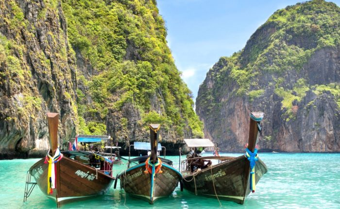 Shutterstock 173956469 Long Tail Boats Maya Bay, Ko Phi Phi Web Ready