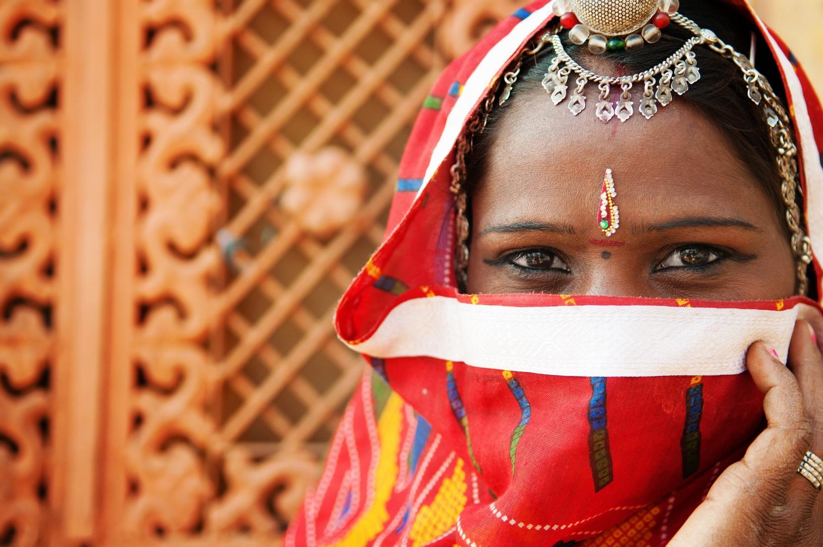 Woman In Sari Costume Web Ready